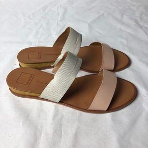 DOLCE VITA Leather Strap Flat Sandals